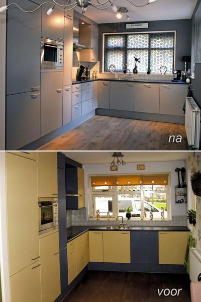 Een volledig nieuwe keuken via een keuken overspuiten